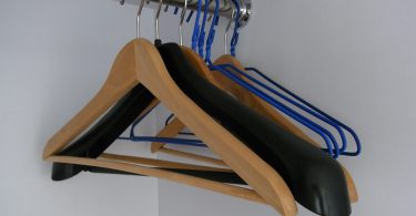 best black wooden hangers
