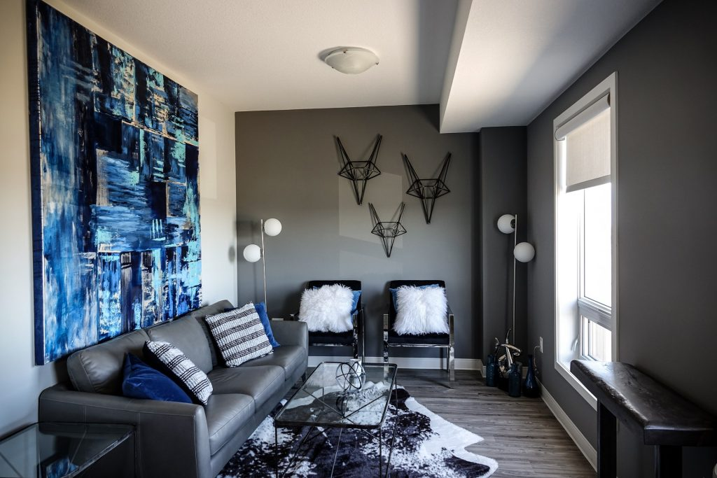Black wooden wall decor picture